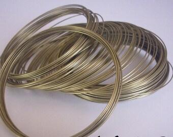 Bracelet in - memory wire - 50 ROUNDS 0.6 mm bronze metal