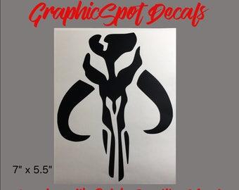 Mandalorian Skull Decal | Vinyl Decal |