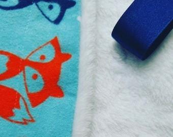 Fuzzy Foxy Baby Binky Burpee Blanket