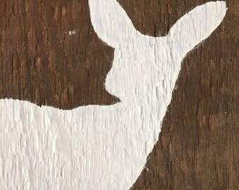 Deer on barn wood painting ~ children's room decoration