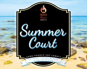 Summer Court - Hand-Poured Soy Wax Candle Inspired By The A Court of Thorns and Roses Series