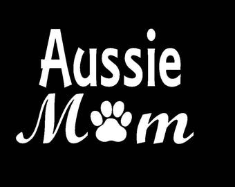 Custom Dog Decal Sticker,  Custom Dog Breed, Dog Mom Decal Sticker, Vinyl Car Window Decal, Paw Print Decal, Dog Lover, Dog Mom Decal