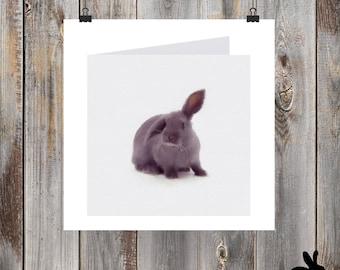 "Watercolour Cards - ""Big Bunny"" Grey Rabbit"