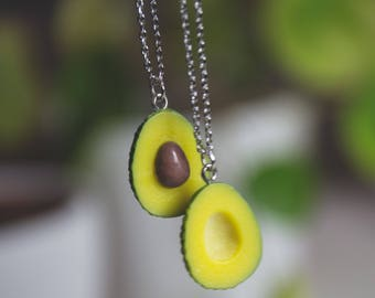 Avocado friendship and couples necklace kawaii necklace