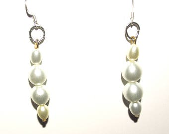 Vintage White Faux Pearl Earrings