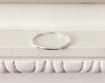 Silver stackable ring- 1mm