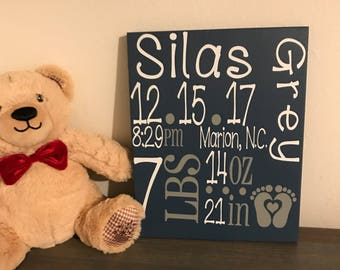 Birth Statistics sign