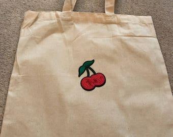 Canvas cherry bag