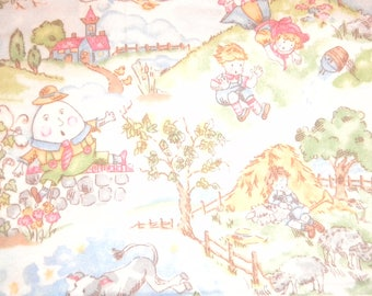 Nursery Thyme flannel by General Fabrics. Characters from your favorite nursery rhymes!
