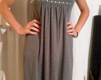 Viscose melange grey sleeveless dress