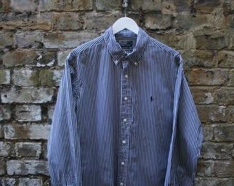 Ralph Lauren Polo Stripe Oxford Shirt XL Button Up
