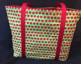 Apples- Functional, Multiple Use, Fully Lined Cotton Tote Bags