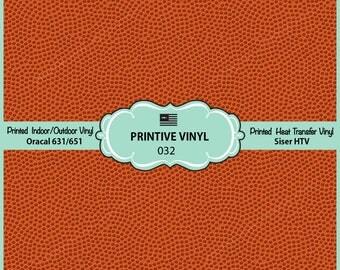 Basketball Texure Pattern Printed Vinyl/Siser HTV/ Oracal/ Indoor Vinyl/ Outdoor Vinyl/ Heat Transfer Vinyl- 032