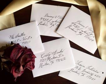 Hand-Calligraphed Envelope Addresses