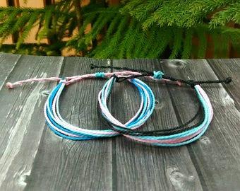 Multi Strand Waterproof Bracelet / Waterproof and Adjustable
