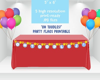 DIGITAL Instant Download Mickey Mouse Clubhouse Party Flags, Oh Toodles Flags, Party Flags, Oh Toodles Banner, Mickey Mouse Clubhouse Party