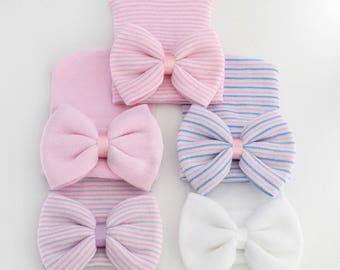 Newborn Hospital Hats With Bow