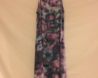 Women's size large/extra large pullover swing dress/tie dye dress/ice dye/hand dyed