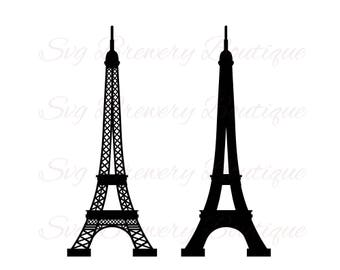 Eiffel tower, paris, svg, png, dxf for cricut, silhouette studio, cut file, cutting machines, vinyl decal, stencil template, t shirt design