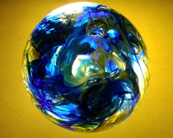 Blue and Green Paperweight