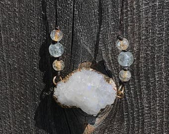 One of a kind geode necklace