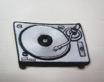 Turntable  - Record Player – Retro Vinyl -  Iron on Patch