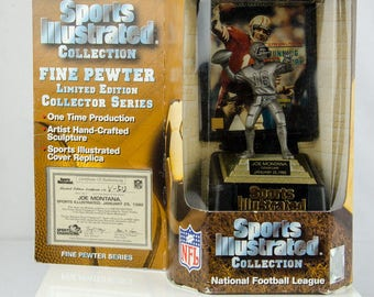 Sports Illustrated Champions San Francisco 49ers Joe Montana Pewter Figure