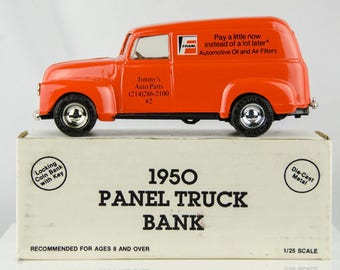Ertl 1950 Panel Truck Diecast Bank 1/25 Scale Fram Filters