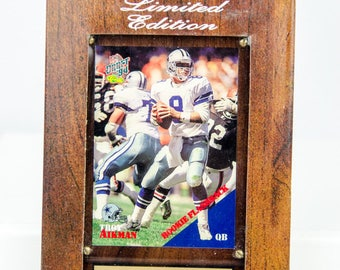 Ultra Rare 1994 Draft Classic Dallas Cowboys Troy Aikman Plaque