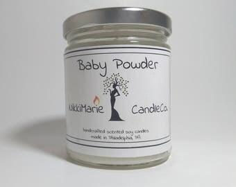 Baby Powder scented soy candle