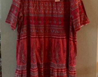 VINTAGE LA CERA 3X Plus Summer Dress or Maxi Lounger. All Cotton