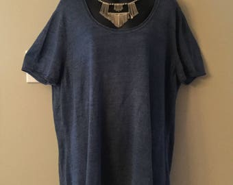 Lord & Taylor Size 3X Linen Knit Top.