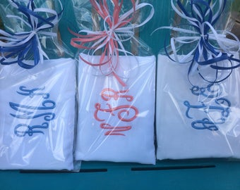 Monogrammed Pillowcase - Birthday Gift - Graduation Gift