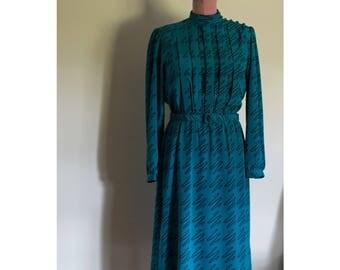 1990s Kenny Classics electric blue dress