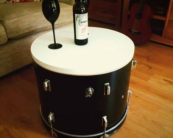 Upcycled Bass Drum Coffee Table with storage.