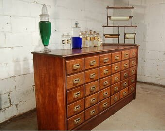 American 30 Drawer Apothecary Cabinet Vintage