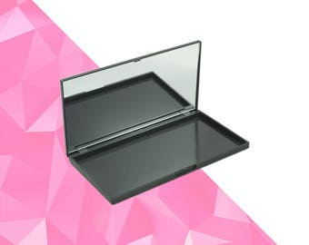 Magnetic Palette M Black with Mirror - Magnetic Makeup Palette - Makeup Organize - Fits 18 Eyeshadows*