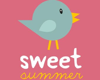 """Poster """"sweet summer bird"""""""