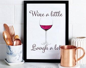 Funny Wine Art, wall art, kitchen decor, printable wine art, wine decor, funny wine art, instant download, digital download