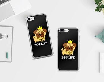 Pug iPhone Case, iPhone 7 case, iPhone 7 Plus Case, phone case, iPhone cover, phone accessories, Pug phone case