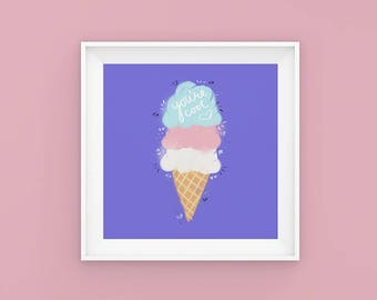 You're Cool | Ice Cream | Typography | Summer | Poster