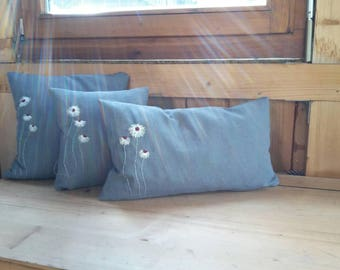 Pillow with flowers