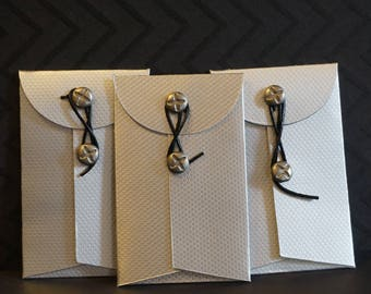 3 Industrial Chic Small Coin Envelopes