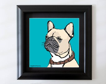 French Bulldog Framed Wall Art