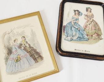 Set of frames / Mode de Paris / vintage illustrations