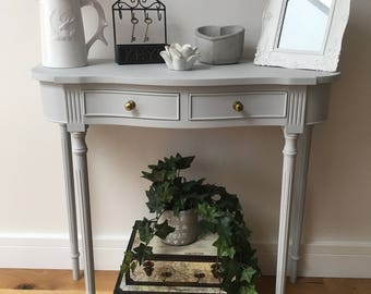 Serpentine Side Table - Console Table - Hallway/Entryway Table - Sterling Grey - Reprodux - Bevan Funnell - Vintage