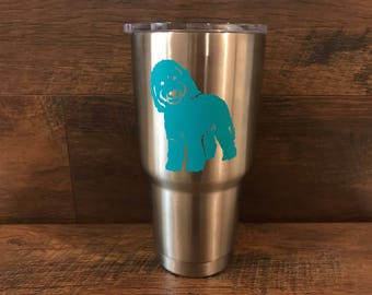 """Golden Doodle Decal Sticker 3"""" (tumbler) and 5"""" (car)"""