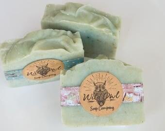 Rosemary Tea Tree Exfoliating Cold Process Soap