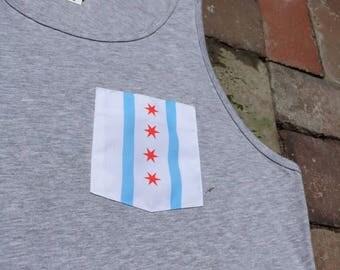 Chicago Flag Pocket Tank