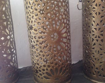 Traditional Oriental Hanging Light Moroccan Lamp Hanging Lamp -fez- Made of Brass diameter 12CM